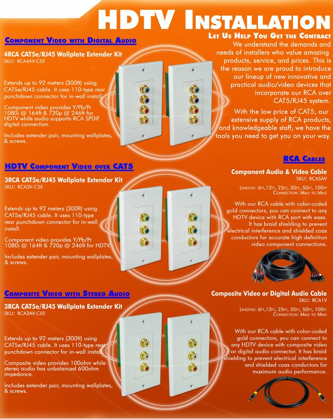 QVS - RCA Components, Composite, Audio Extender Over Cat5e
