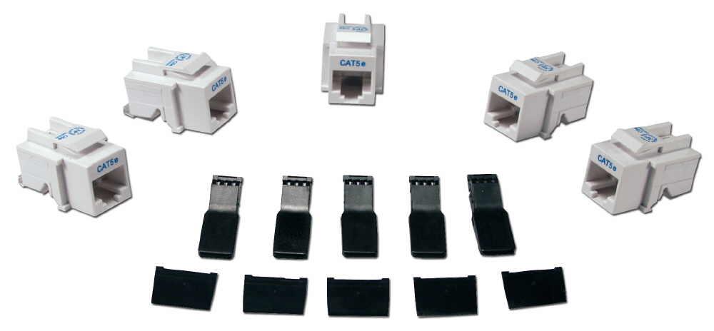 Fantastic C5Jaw 50 50 Pack 350Mhz Cat5E Toolfree White Rj45 Keystone Jack Wiring Digital Resources Xeirawoestevosnl