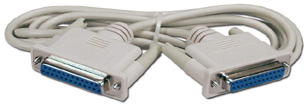 QVS 6ft DB25 Male to Female Serial Modem Cable