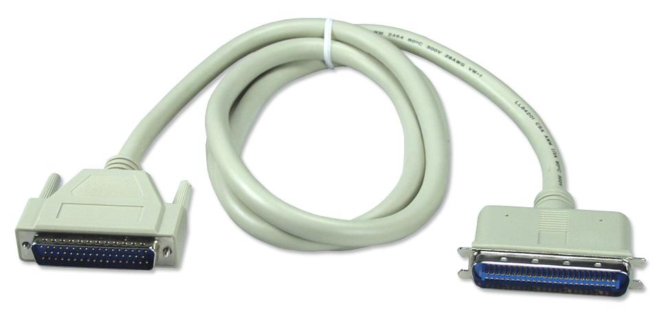 QVS 2ft SCSI DB25 Male to Cen50 Male External Cable