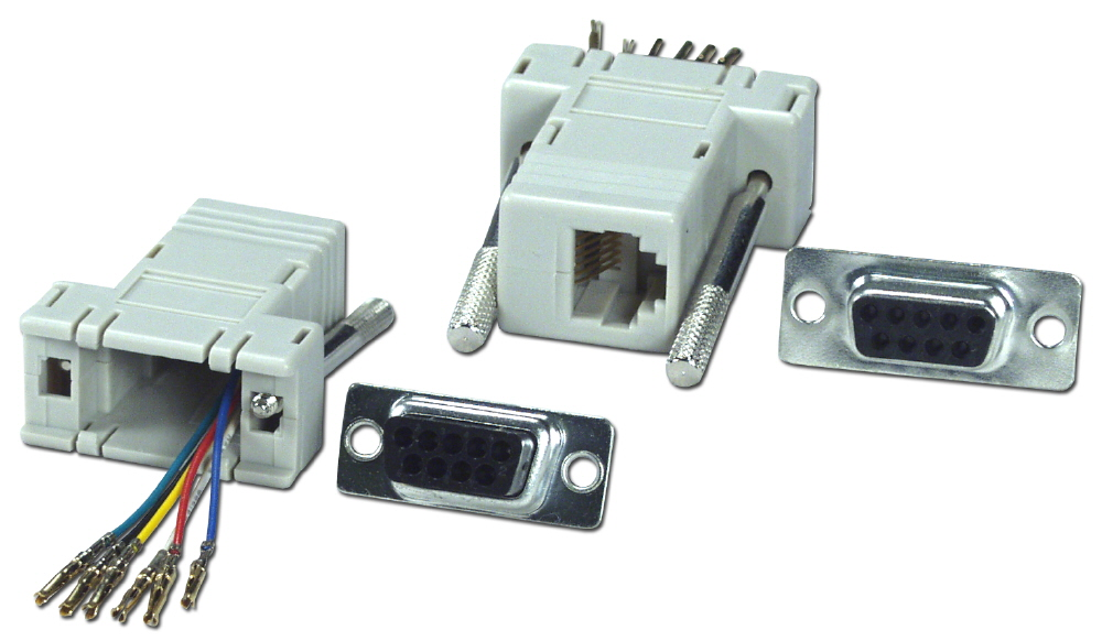 CC437 - DB9 to RJ12 Serial/Terminal Modular Adaptor on