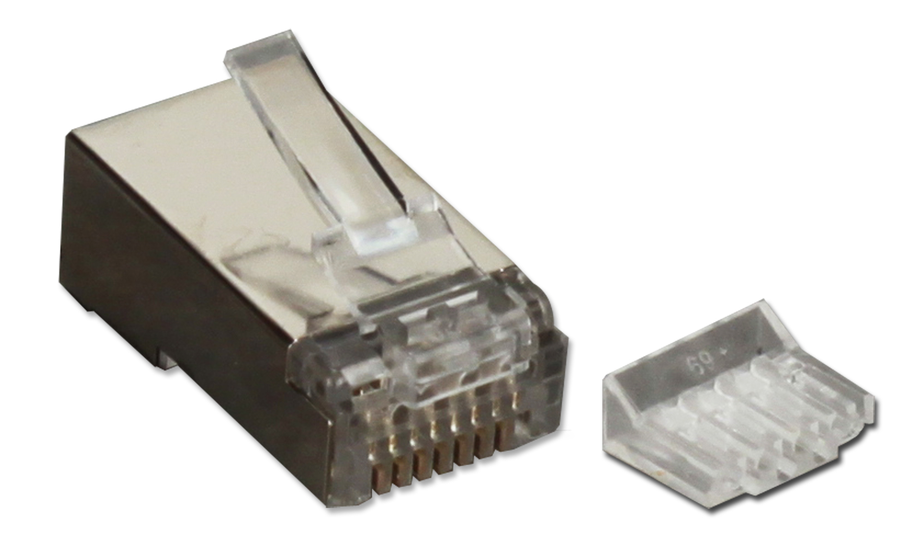 Cr6sd 100s 100pcs Cat6 Shielded Crimp Connector With Insert The Wiring Of Conductors To Rj45 Has Also Been Established By Supports All And Other High Speed Applications Works Cat5 Cat3 Any Rev1 Maximum Wire Awg 24
