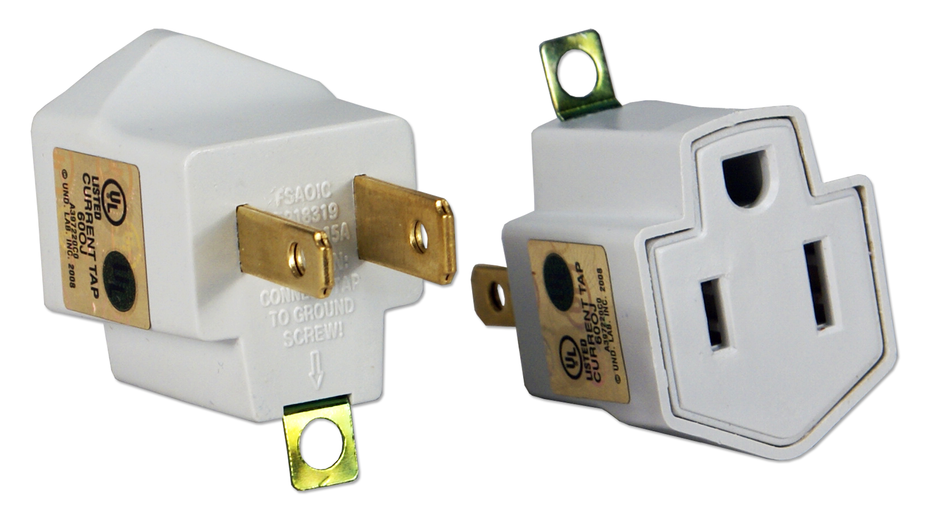 Pa 2pk 2 Pack 3 Prong To Power Adaptor With Grounding Vs Outlets Highres 300dpi Image