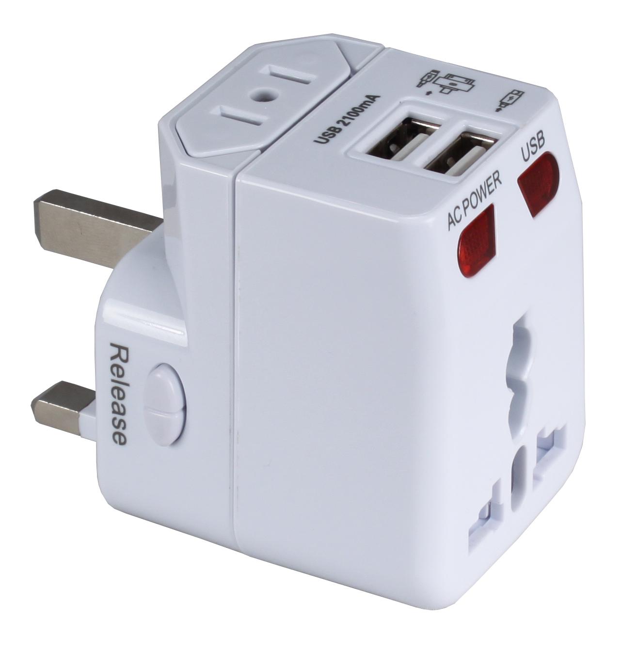 Pa C4 Premium World Travel Power Adaptor With Surge