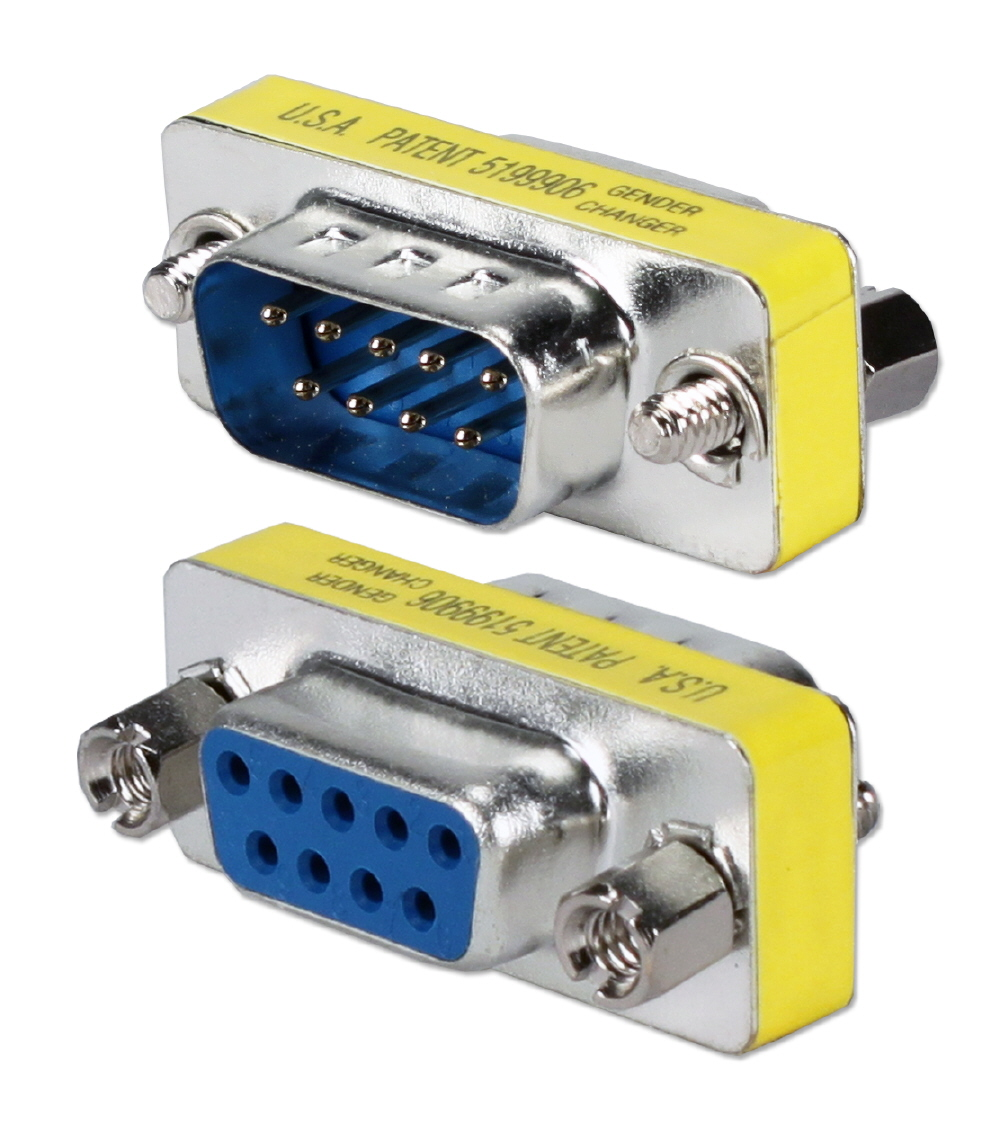 Qvs Serial Adaptors Below The Cable Is A Standard Straight Through Rs232 Psdb9
