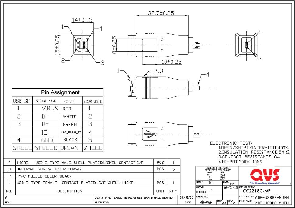 otg wiring diagram qvs usb 2 0 cables  qvs usb 2 0 cables