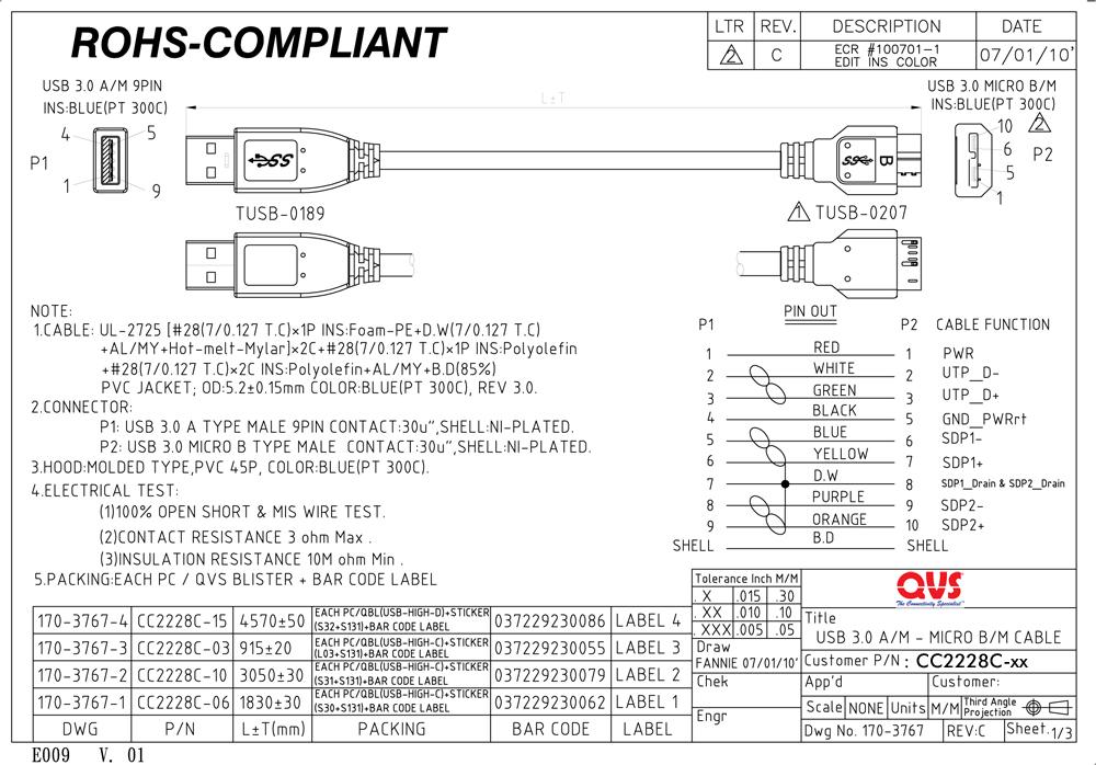 ACD Link MicroUSB USB-A PVC 1m Black ACD-U910-M1B