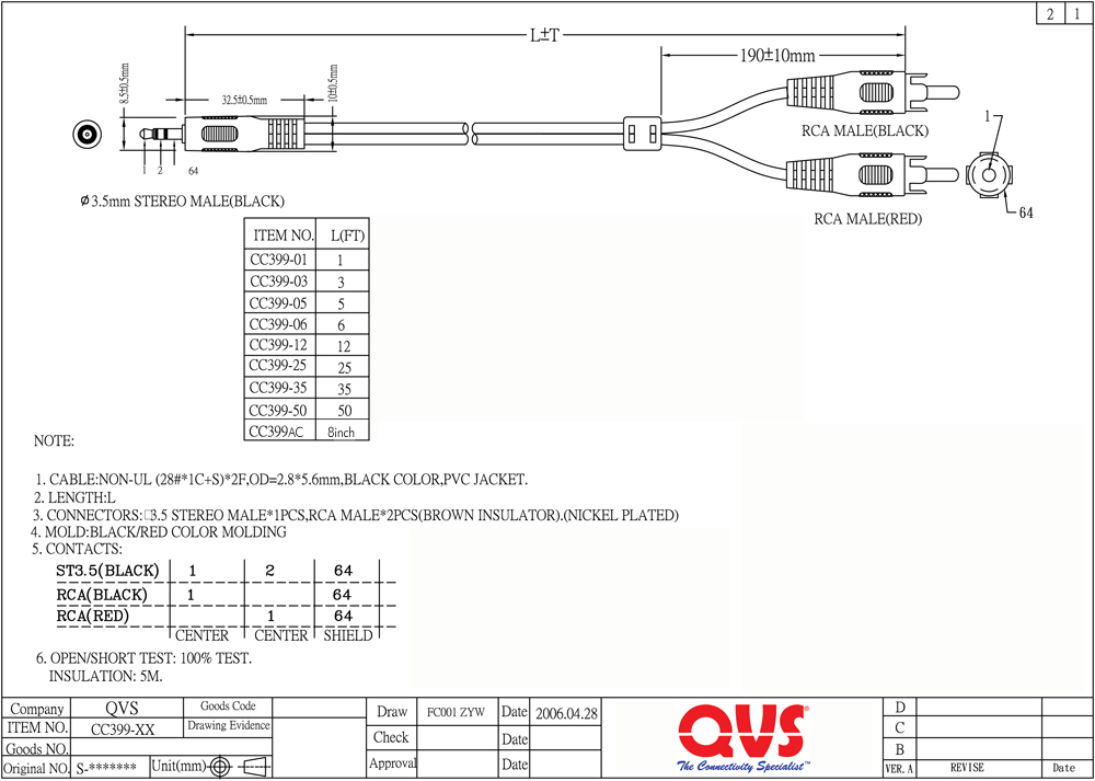 CC399 xx_S qvs audio and video cables 3.5 mm to rca wiring diagram at aneh.co