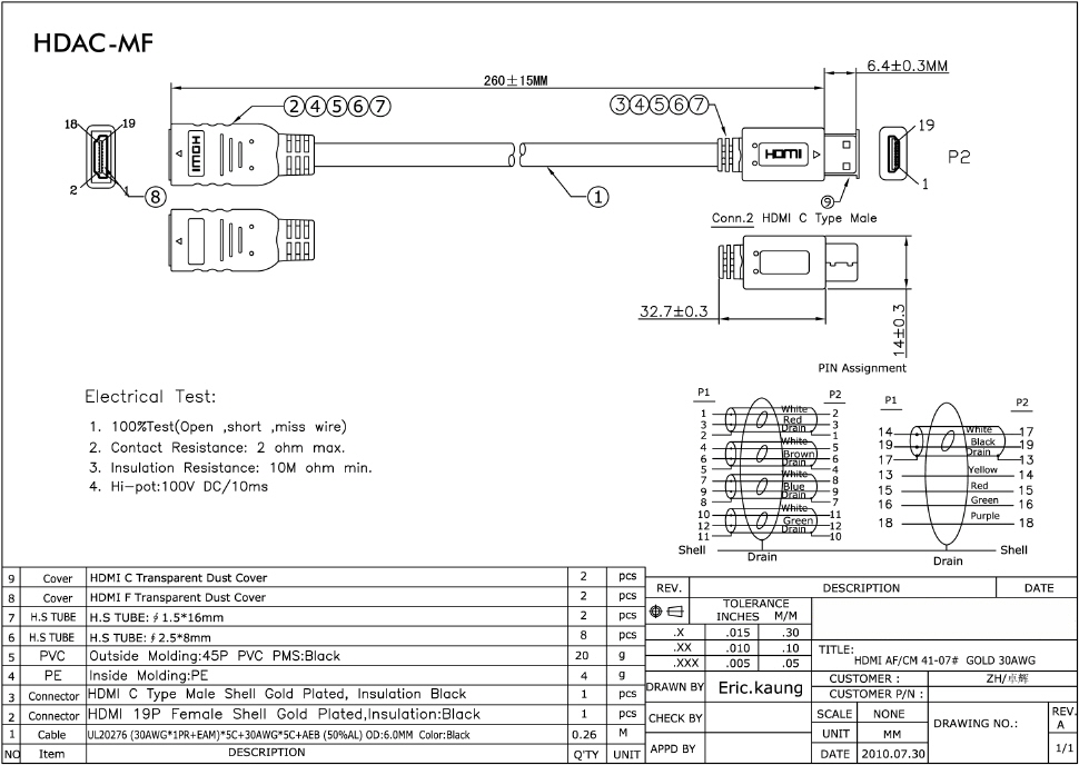 qvs - high speed hdmi with ethernet, Wiring diagram