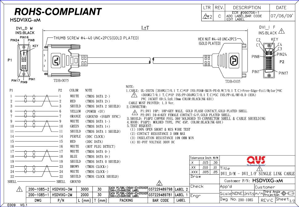 HSDVIXG 2M 3M_S qvs dvi video cables and adaptors dvi d to vga wiring diagram at gsmportal.co