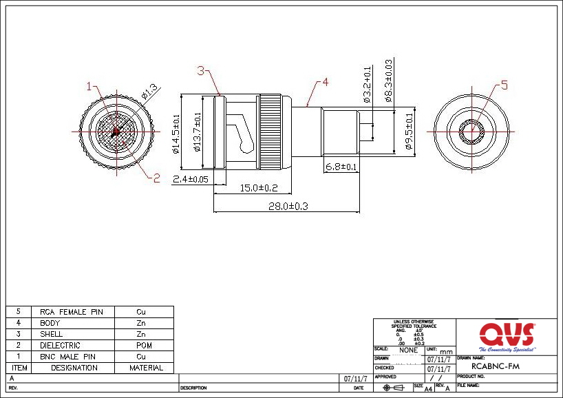 RCABNC FM_S qvs premium rca component cables and adaptors bnc to rca wiring diagram at edmiracle.co