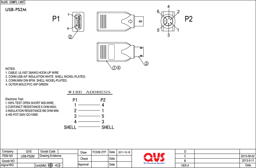 Ps 2 Keyboard Wiring Diagram - Block And Schematic Diagrams •